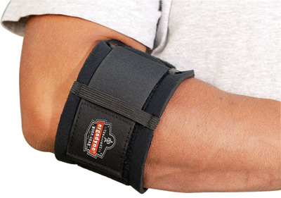 Ergodyne Large Black ProFlex� 500 Nylon Laminated Neoprene Ambidextrous Elbow Support With Hook And Loop Closure