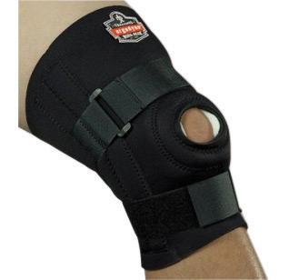 "Ergodyne Small Black ProFlex� 620 Neoprene Ambidextrous Knee Sleeve With 2"" Hook And Loop Closure, Anterior Pad, Open Patella, ("