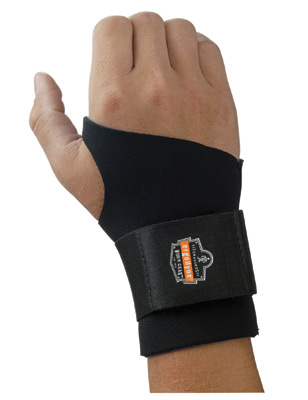 Ergodyne Small Black ProFlex� 670 Neoprene Ambidextrous Single Strap Wrist Support With Reversible Hook And Loop Closure And 2""