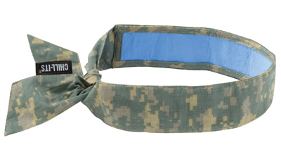 Ergodyne Camouflage Chill-Its� 6700CT PVA Evaporative Cooling Bandana With Tie Closure