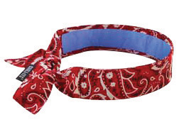 Ergodyne Red Western Chill-Its� 6700CT Advanced PVA Evaporative Cooling Bandana With Tie Closure And Towel