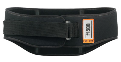 Ergodyne Medium Black ProFlex� 1500 Foam Laminated Nylon Weight Lifters Style Specialty Back Support With Foam Lumbar Pad