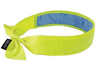 Ergodyne Hi-Viz Lime Chill-Its� 6700CT Advanced PVA Evaporative Cooling Bandana With Tie Closure And Towel