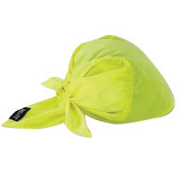 Ergodyne Hi-Viz Lime Chill-Its� 6710CT Advanced PVA Evaporative Cooling Triangle Hat With Tie Closure And Towel
