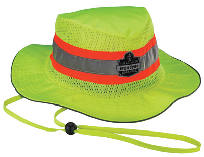 Ergodyne Small - Medium Hi-Viz Lime Chill-Its� 8935CT Advanced PVA Evaporative Ranger Hat With Reflective Stripes