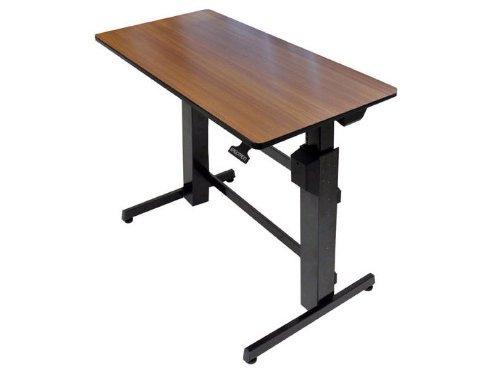 WorkFit D Sit-Stand Workstation, 47 5/8 x 23 1/2 x 50 5/8, Walnut/Black