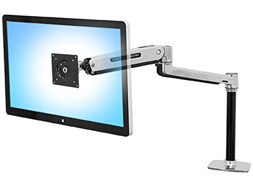 LX Sit-Stand Workstation Mount LCD Arm, Polished Aluminum