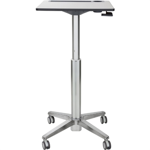LearnFit Adjustable Stand-Up Desk, 24w x 22d x 33 1/4h to 49 1/4h, White/Silver