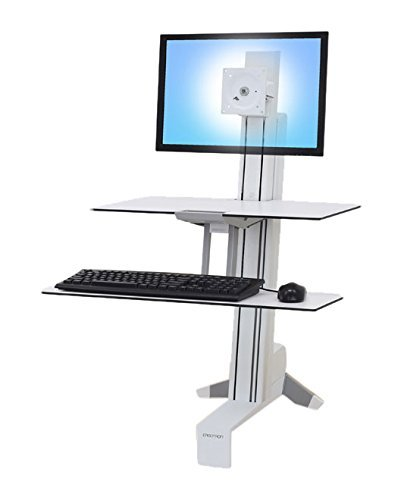 WorkFit-S Sit-Stand Workstation w/Worksurface+, LCD LD Monitor, White