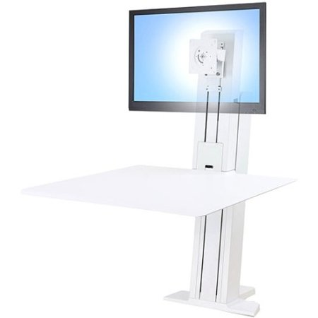 """WorkFit-S Sit-Stand Workstation, 24"""" Screen Size, White"""
