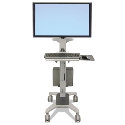 Neo-Flex WideView WorkSpace, Single Monitor Display, 25.25w x 24d x 72.5h, Gray