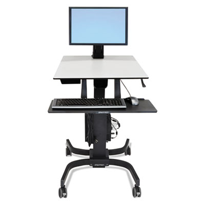 WorkFit-C Sit-Stand Workstation, Single LD, 36.5w x 32.25d x 47 to 67h, Gray