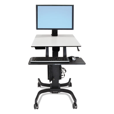 WorkFit-C Sit-Stand Workstation, Single LD, 36.5w x 32.25d x 49.13h, Black