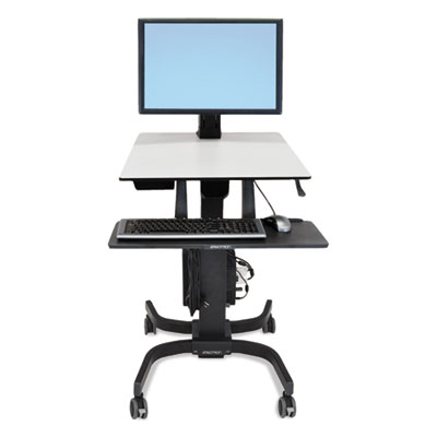 WorkFit-C Sit-Stand Workstation, Single HD, 36.5w x 32.25d x 49.13h, Black
