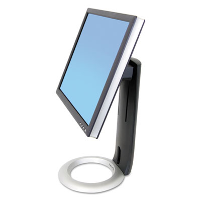 """Neo-Flex LCD Stand for LCDs up to 24"""", Black/Silver"""