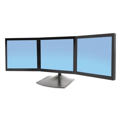 DS100 Triple-Monitor Desk Stand, 46w x 12.38d x 28.25h, Black