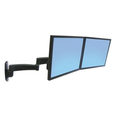 200 Series Dual Monitor Arm, 3w x 5.75 to 23d x 11.88h, Black
