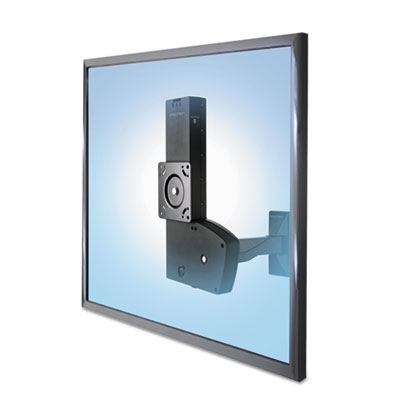 Glide Wall Mount, Light-Duty with Extension, 6.5w x 11d x 15h, Black
