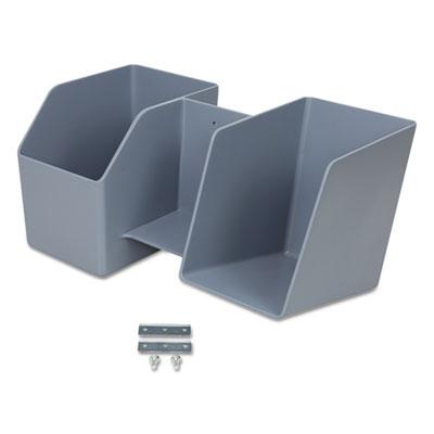 LearnFit Storage Bin, 8 lb Capacity, 14 1/2 x 8 x 8, Dark Gray