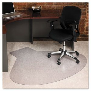 EverLife Chair Mats For Medium Pile Carpet, Contour,  66 x 60, Clear