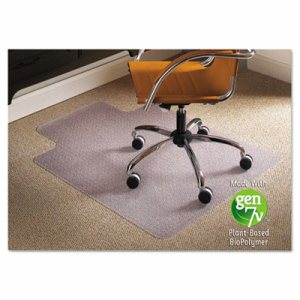 Natural Origins Chair Mat With Lip For Carpet, 45 x 53, Clear