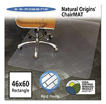Natural Origins Chair Mat For Hard Floors, 46 x 60, Clear