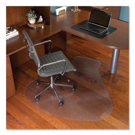 EverLife Workstation Chair Mat for Hard Floors, With Lip, 66 x 60, Clear