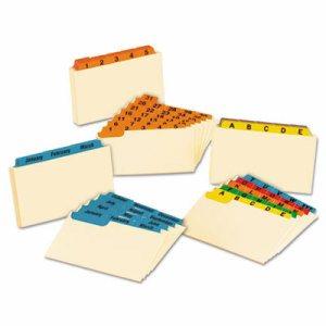 Laminated Index Card Guides, Monthly, 1/3 Tab, Manila, 3 x 5, 12/Set