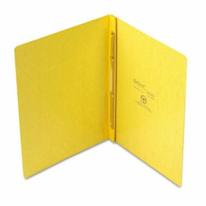 "PressGuard Report Cover, Prong Clip, Letter, 3"" Capacity, Yellow"