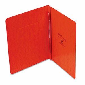 "PressGuard Report Cover, Prong Clip, Letter, 3"" Capacity, Tangerine"