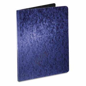 "Pressboard Report Cover, 2 Prong Fastener, Letter, 3"" Capacity, Dark Blue"