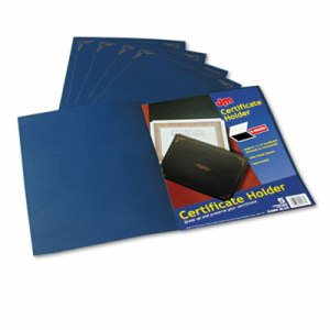 Certificate Holder, 11 1/4 x 8 3/4, Dark Blue, 5/Pack