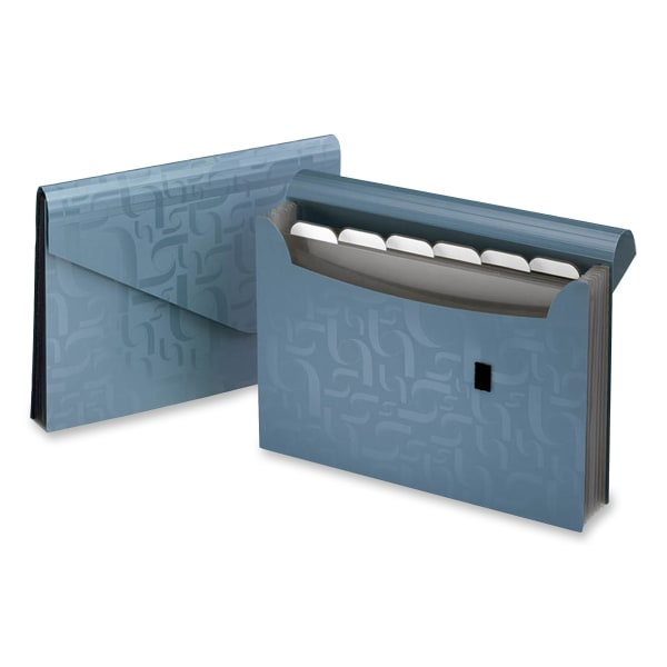 Expanding Poly Files, 7 Pockets, Poly, 1/6 Tab, Letter, Blue