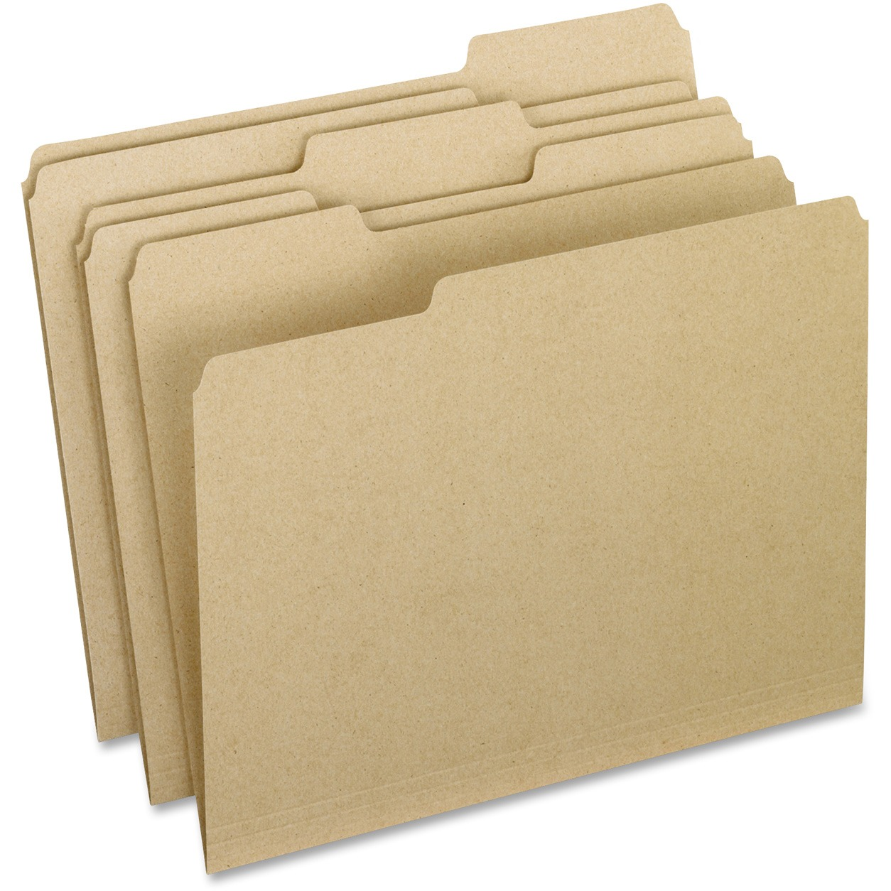 Earthwise Recycled Colored File Folders, 1/3 Top Tab, Letter, Natural, 100/BX