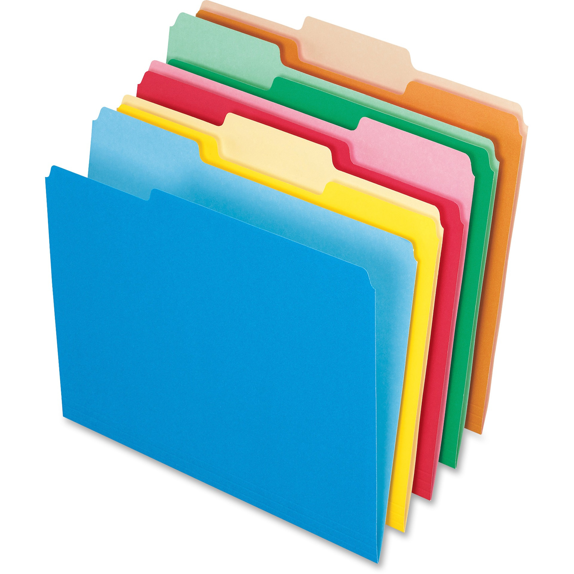 Colored File Folders, 1/3 Cut Top Tab, Letter, Assorted Colors, 100/Box