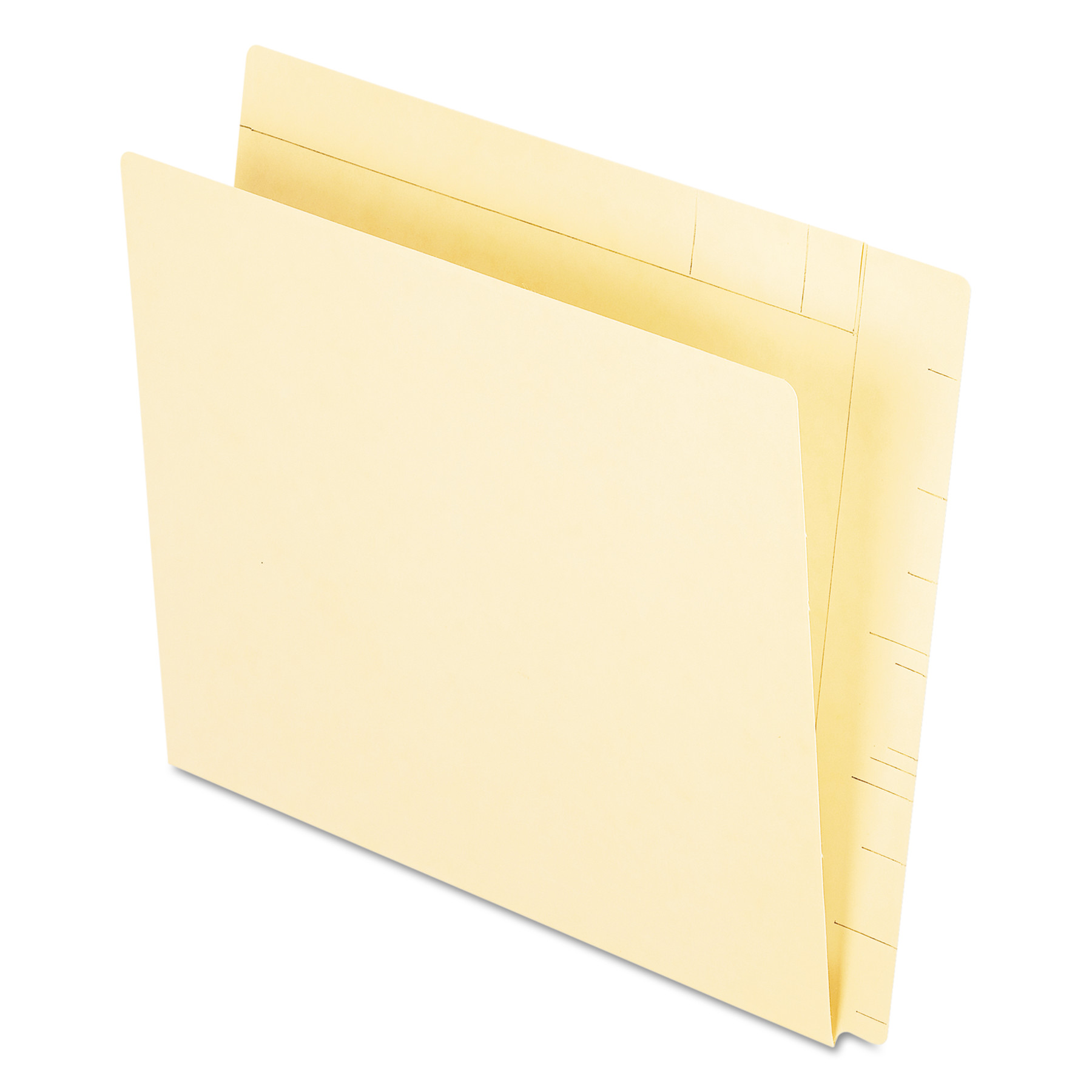 Conversion Folders, Straight Cut, Top Tab, Letter, Manila, 100/Box