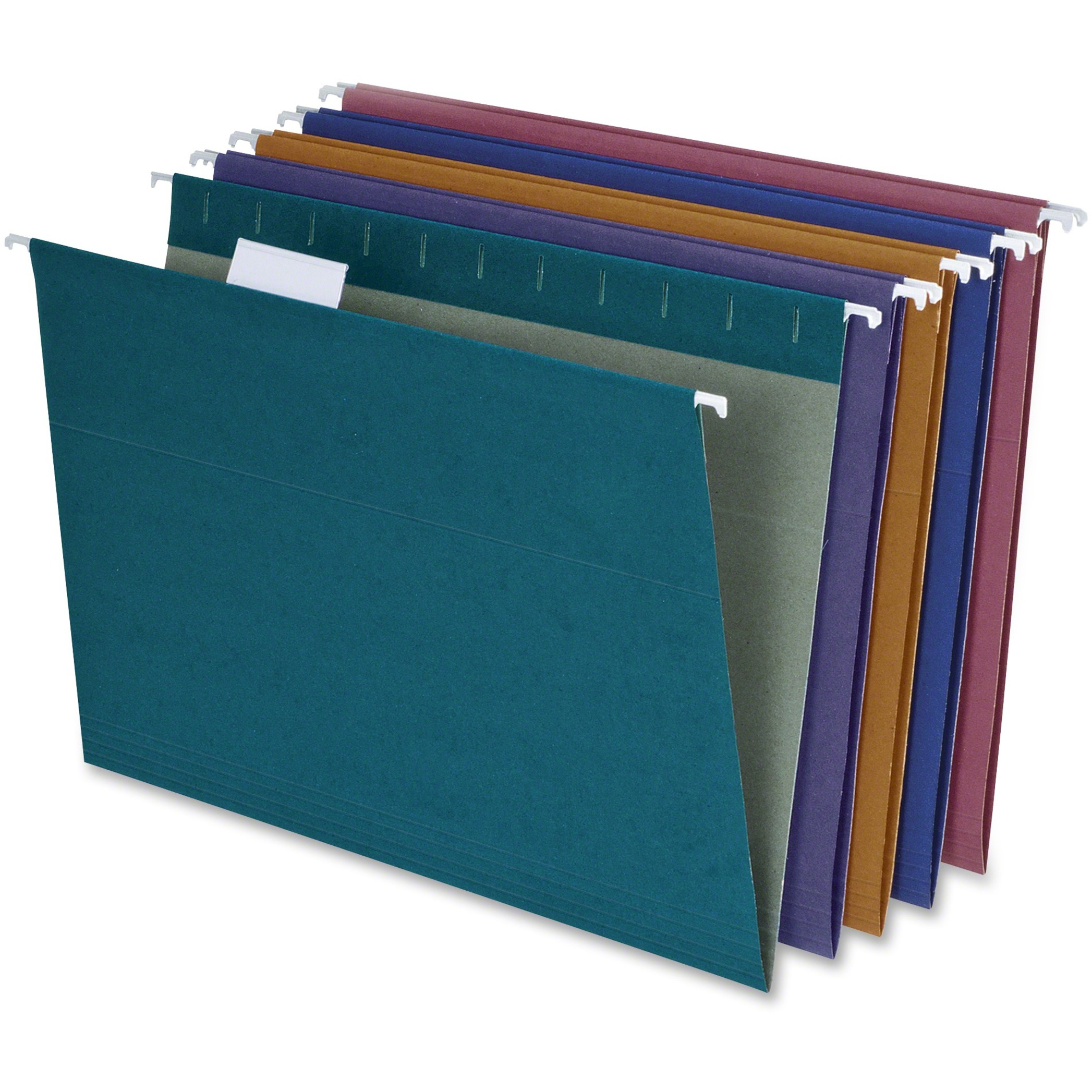 Earthwise EZ Slide Hanging File Folders, 1/5 Tab, Letter, Assorted, 20/Box