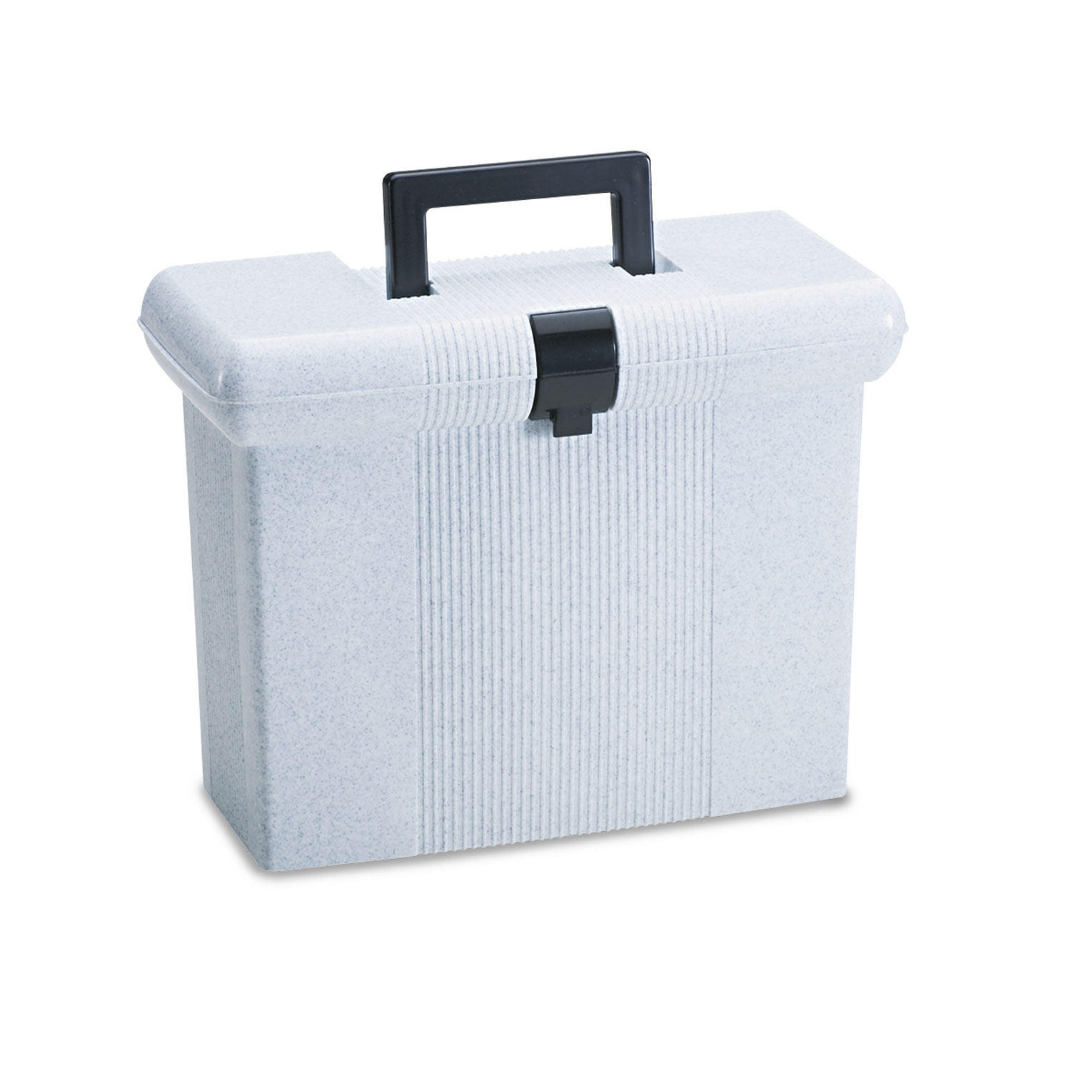 Portafile File Storage Box, Letter, Plastic, 14-7/8 x 6-1/2 x 11-7/8, Granite