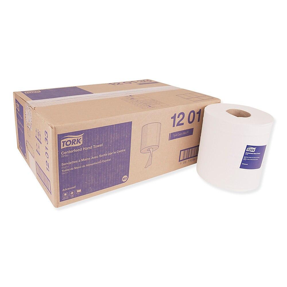 Advanced Centerfeed Hand Towel, 1-Ply, 8.25 x 11.8, White, 1000/Roll, 6/Carton