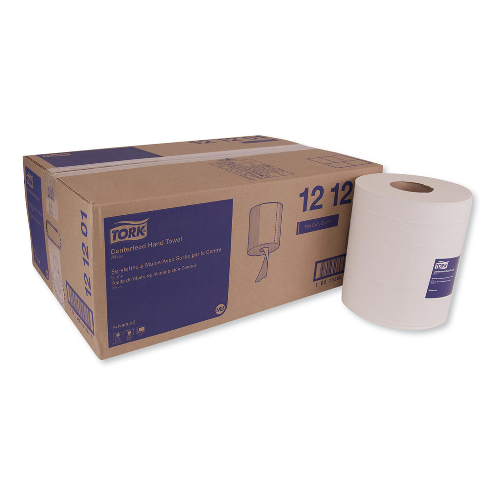 Advanced Centerfeed Hand Towel, 2-Ply, 9 x 11.8, White, 600/Roll, 6/Carton