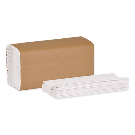C-Fold Hand Towel, 1-Ply, 10.13 x 12.75, Natural White, 150/Pack, 16 Packs/Carton