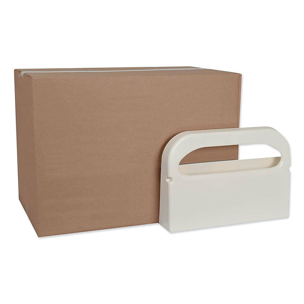"""Toilet Seat Cover Dispenser, 16"""" x 3"""" x 11.5"""", White, 12/Carton"""