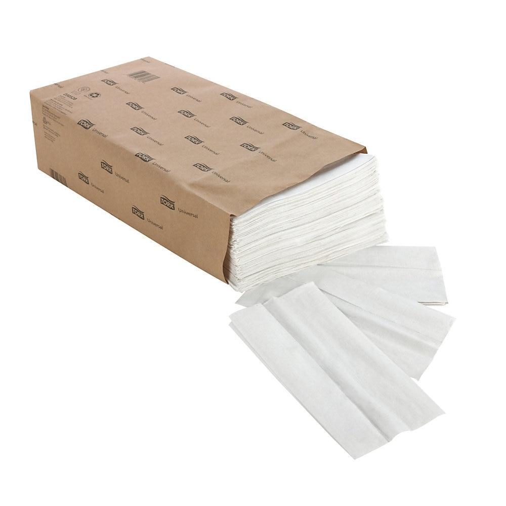 "Universal Tall-Fold Dispenser Napkins, 1-Ply, 6"" x 13.5"", White, 10000/Carton"