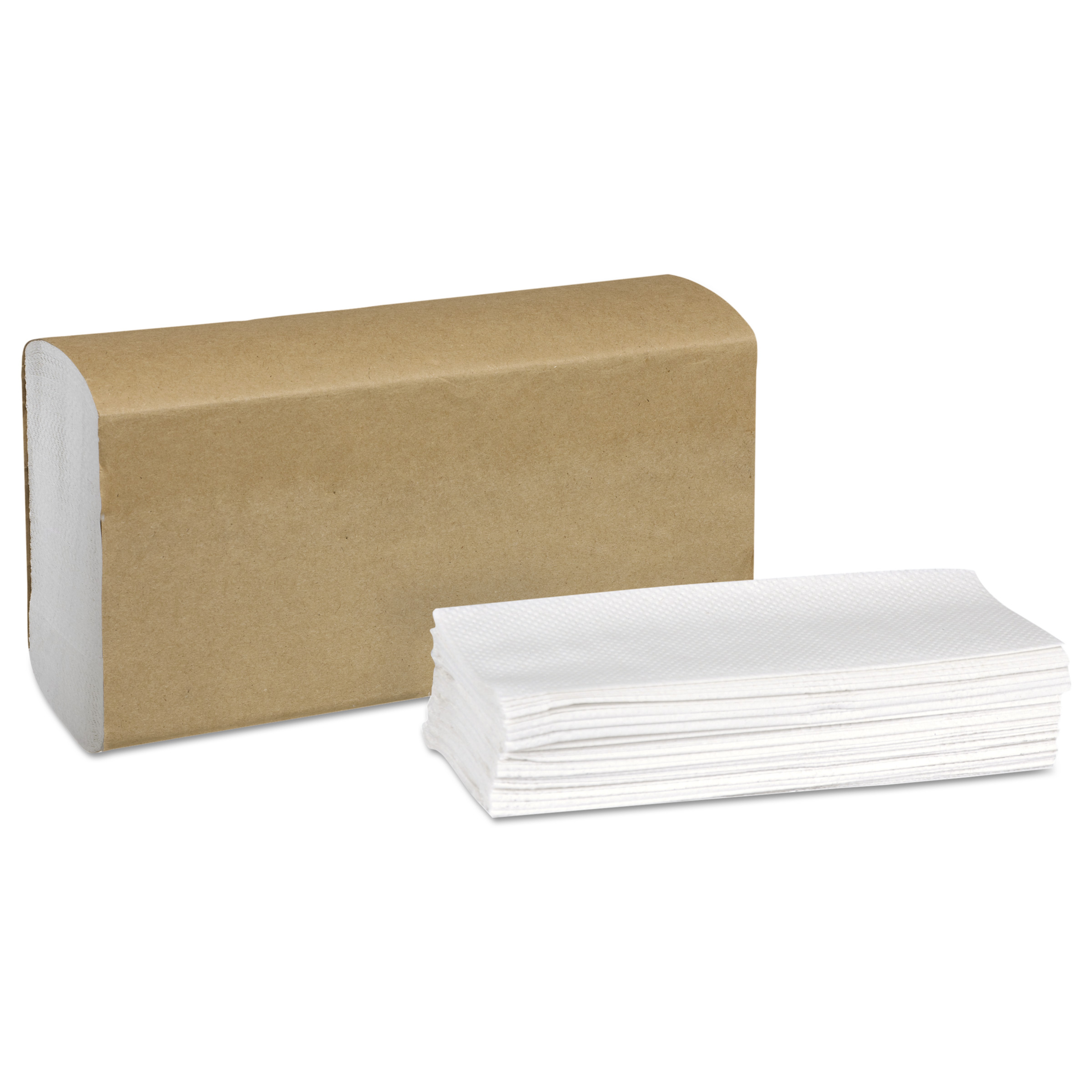 Universal Multifold Hand Towel, 9.13 x 9.5, White, 250/Pack,16 Packs/Carton