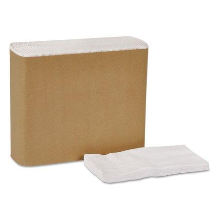 "Universal Dinner Napkins, 1-Ply, 15"" x 17"", 1/8 Fold, White, 3000/Carton"