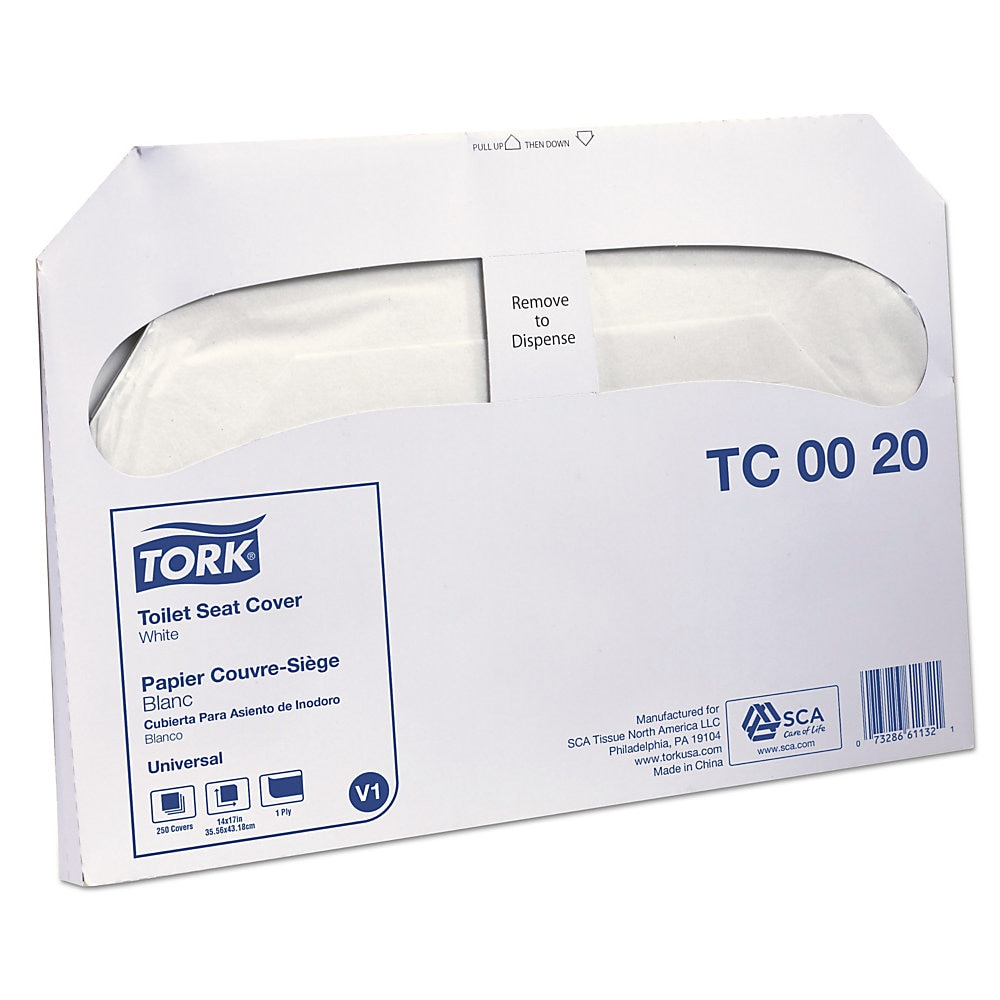 Toilet Seat Cover, 14.5 x 17, White, 250/Pack, 20 Packs/Carton