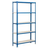 SHELVING BLUE/WHT 35WX16DX71H