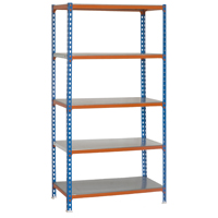 SHELVING BLUE/ORNG 40WX20DX79H
