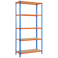 SHELVING BLUE/ORNG 35WX16DX71H