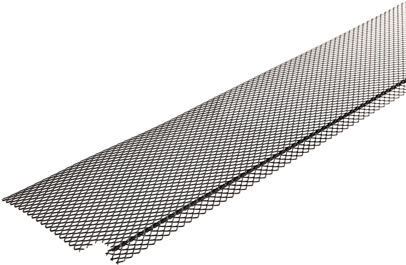 5-Inch x 40-Feet Galvanized Gutter Cover, Black